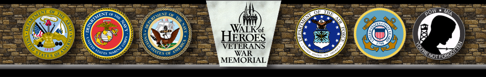Walk of Heroes Veterans War Memorial