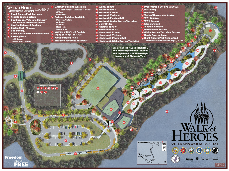 Walk of Heroes SitePlan