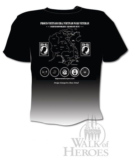 Commemorative 40th Anniversary Observance of the End of Vietnam War T-shirt