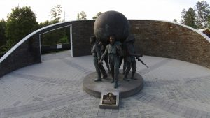 close up of the freedom watch statue
