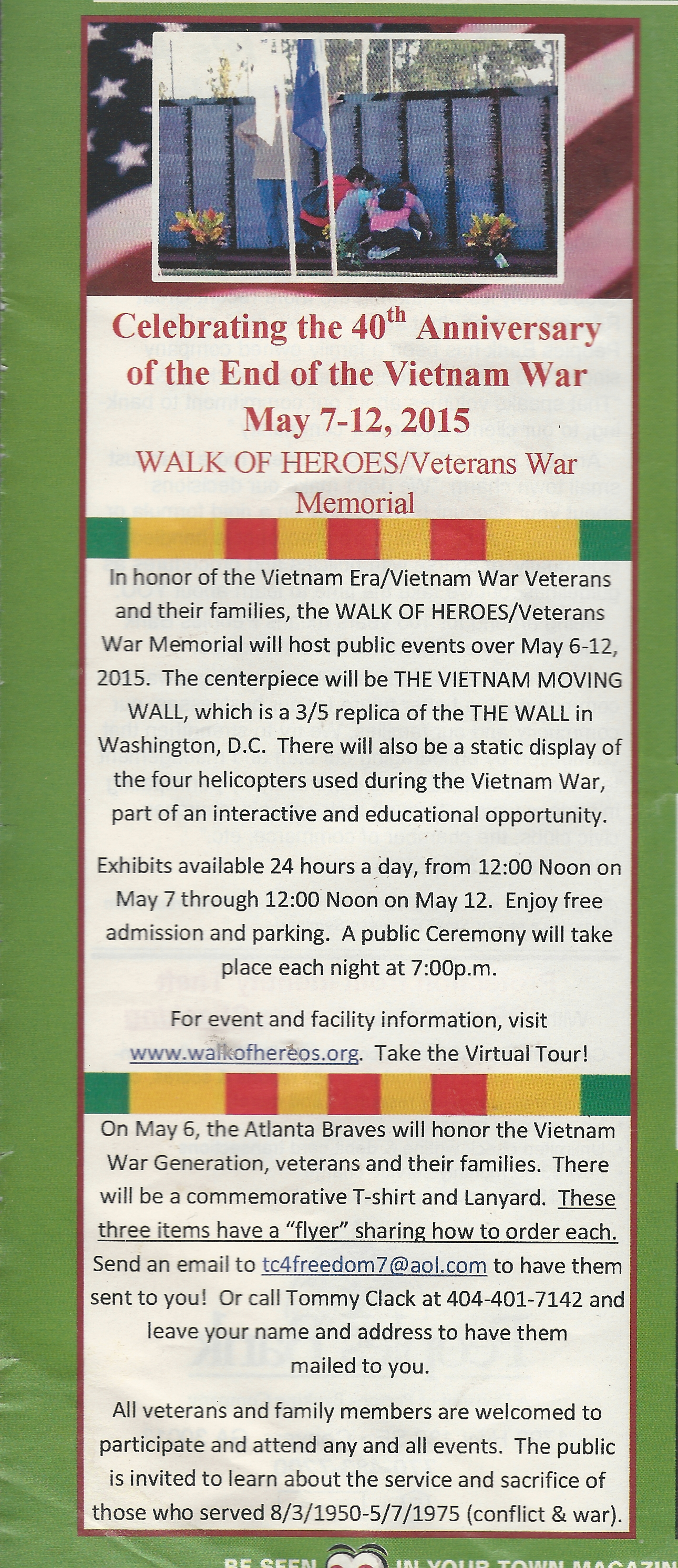 40th Anniversary Of the End of the Vietnam War